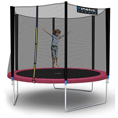 Kinetic Sports Outdoor Gartentrampolin Ø 310 cm, TPLH10, Komplettset inklusive Sprungtuch aus USA...