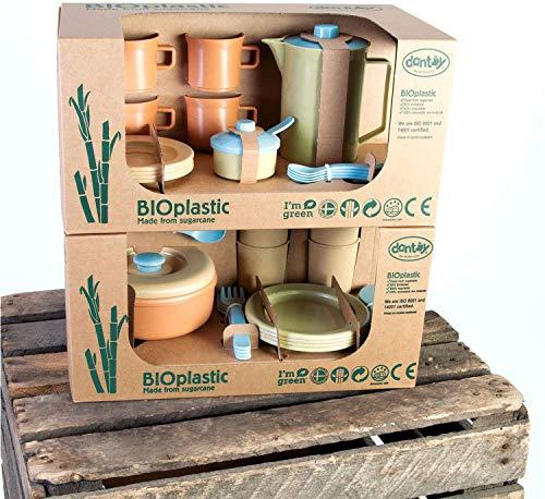 Dantoy Bio Linie Kaffeeservice + Speiseservice Set Bioplastic