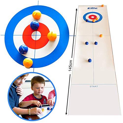 Curling Spiel, Bowling Shuffleboard Tisch Set, Tisch Curling Familie Party Spiel für Kinder und...