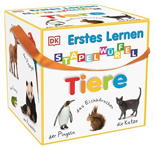 Erstes Lernen Stapelwürfel. Tiere: 10 stabile Karton-Würfel ab 1 Jahr mit tollen Fotos zum Spielen,...