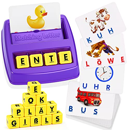LET'S GOS! Geschenke für Mädchen ab 3 4 5 6 7 8 Jahre, Lernspielzeug ab 3-8 Jahre Spielzeug für Jungen...