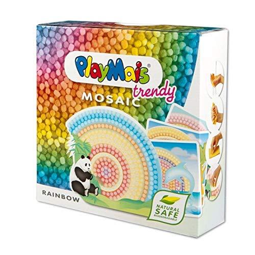 PlayMais TRENDY Mosaic Rainbow Kreativ-Set zum Basteln für Kinder ab 8 Jahren | Über 3.000 Stück & 6...