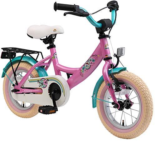 BIKESTAR Kinderfahrrad für Mädchen ab 3-4 Jahre | 12 Zoll Kinderrad Classic | Fahrrad für Kinder Pink...