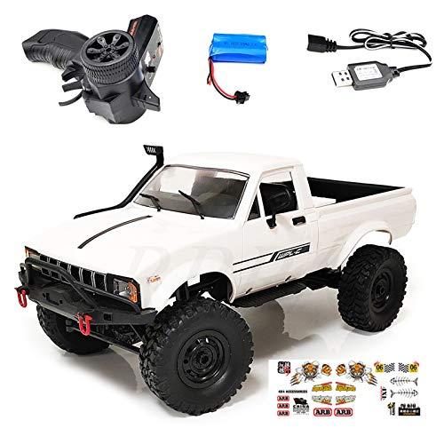 PHILSP Rock Crawler Maßstab 1:16 C24-1 Pickup 4WD RC Rock Crawler Auto DIY Montage RC Car Kit Weiß