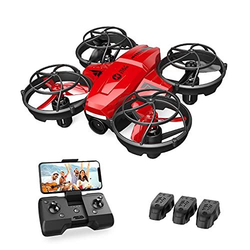 Holy Stone HS420 Mini Drohne mit Kamera für Kinder, RC Quadrocopter mit 3 Batterien Lange Flugzeit, Wifi...
