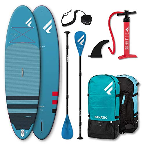 Fanatic Fly Air Pure Inflatable SUP 10.8 Stand up Paddle Board mit Pure Paddel 325cm