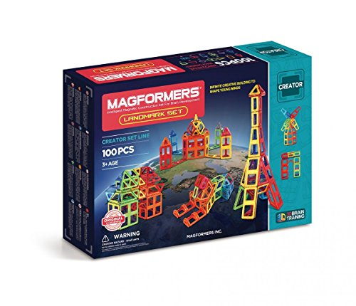 MAGFORMERS–Landmark, 100-teilig Set (703008)