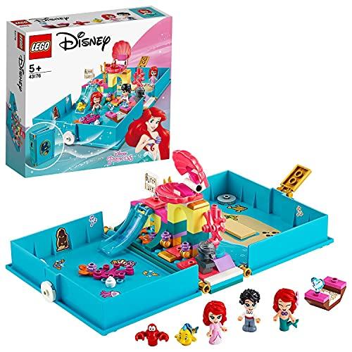 LEGO 43176 Disney Princess Arielles Märchenbuch mit Prinzessin Arielle der kleinen Meerjungfrau...