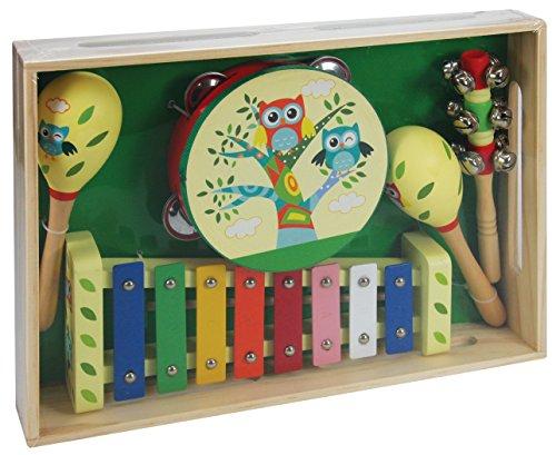 A B Gee lxs0167 Holz Musical Instrument Set mit Eule Design