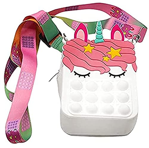 Damen Geldbörse Pop Fidget Toys Tasche Push Bubble Sensory Squeeze Umhängetasche Anti-Angst Zappeln...