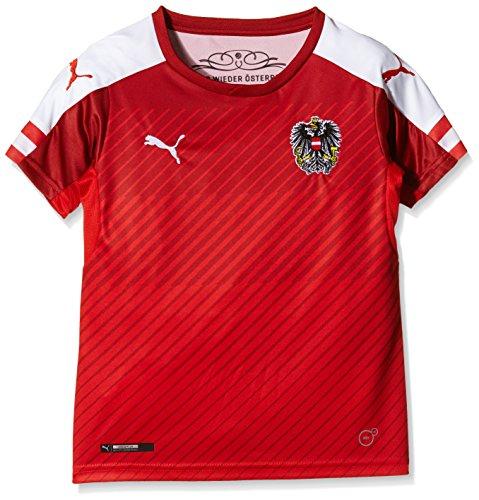 PUMA Kinder Trikot Austria Home Replica Shirt, Red/White, 176
