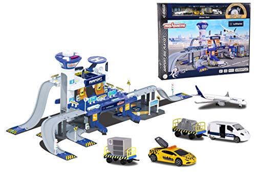 Majorette 212050018038 Creatix Lufthansa Airport, XXL Flughafen Spielzeugset, inkl. Flugzeug und...