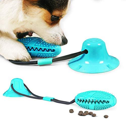 Zahnbürsten-Stick, Hundespielzeug mit Saugnapf, Hundezahnbürste Kauspielzeug, Ball Leckerli-Spender...