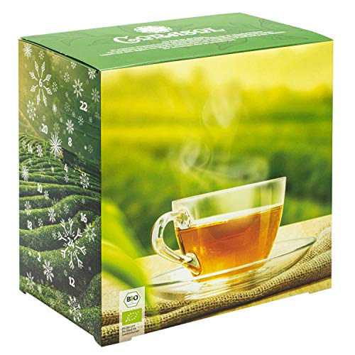 Corasol Premium Bio-Tee-Adventskalender 2021, 24 Premium Bio-Teesorten, loser Tee, Geschenk-Idee für...
