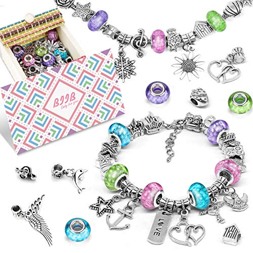 BIIB Geschenke für Mädchen - Charm Armband Kit DIY, 2021 Kleine Geschenke für Kinder, Schmuck...