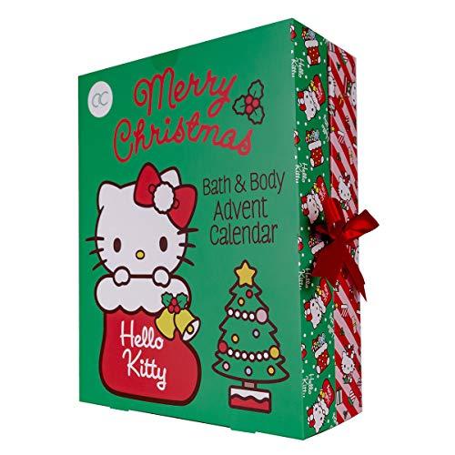 accentra Adventskalender Hello Kitty 2021 für Mädchen, gefüllt mit Beauty-, Bade-, Pflege- und...