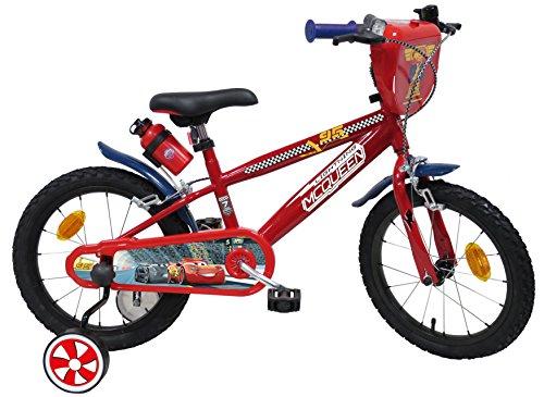 Eden -Bikes Kinderfahrrad, 16 Zoll, Jungen, Lizenz Cars-2 Bremsen, Mehrfarbig, 16 Zoll