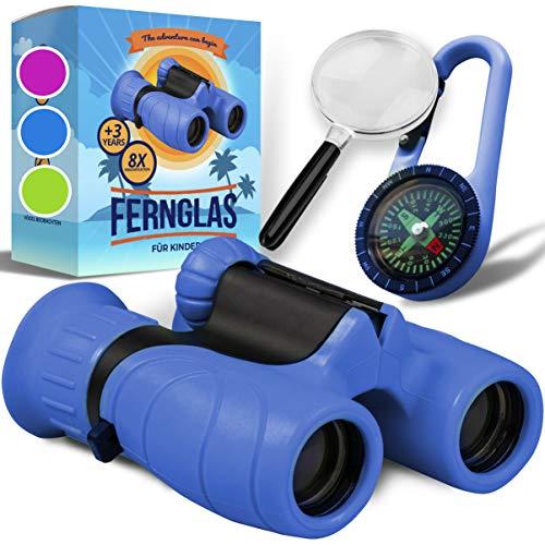 Fernglas für Kinder - Optimales Geschenk für kleine Jungen und Mädchen - Starke Vergrößerung 8X21...