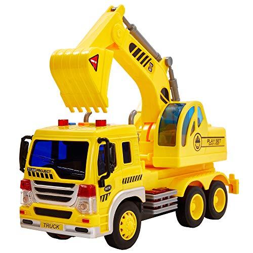 HERSITY Bagger Spielzeug Gross mit Sound und Licht Fahrzeug Sandkasten LKW Auto Kinderspielzeug Geschenk...