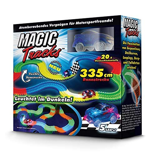 BCdirekt Car Track Magic Tracks Starter Set | Racing car Toy for Children from 3 Years Old Fluorescent |...