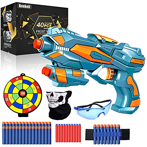 Bonbell Kinder Pistole für Nerf Pfeile, Spielzeug für 6-12 Jahre Jungs , Spielzeug Waffen Set mit 1...