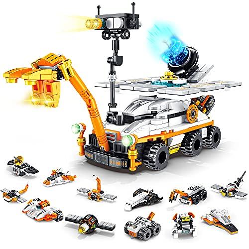 VATOS City Bausteine Spielzeug ab 6 7 8 9 10 Jahren für Jungen | 556 Teile Mars Rover...