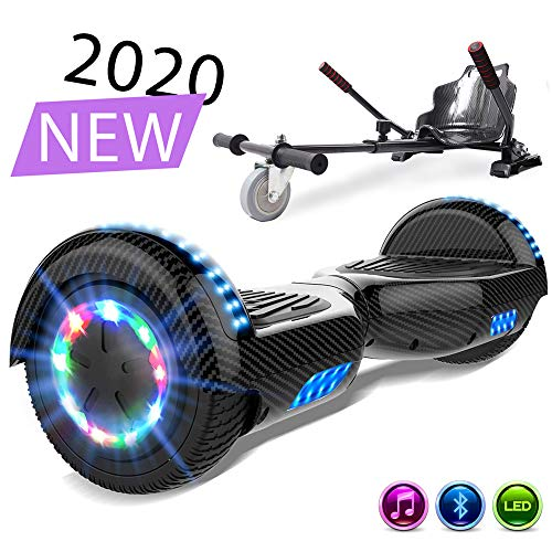 SOUTHERN-WOLF Self-Balancing Scooter, Hoverboard 6,5zoll Hover Scooter Board Bluetooth Scooter mit bunten...