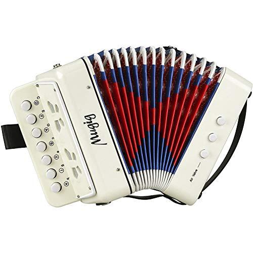 Mugig Akkordeon Ziehharmonika Solo und Tasteninstrument Harmonika für Anfänger Erwachsene und Kinder