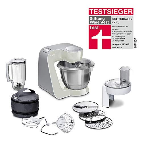 Bosch MUM5 CreationLine Küchenmaschine MUM58L20, Testsieger, vielseitig einsetzbar, große...