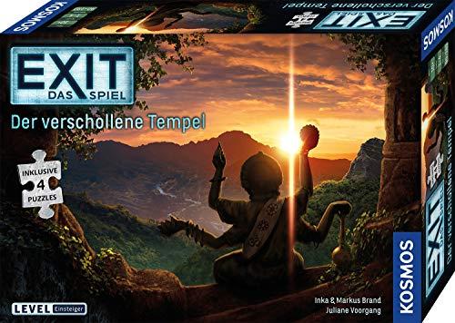 KOSMOS 692094 EXIT - Das Spiel + Puzzle - Der verschollene Tempel, Level: Einsteiger, Escape Room Spiel...
