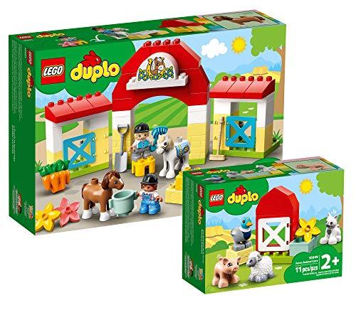 Bauernhof-Sets 'Pferdestall und Ponypflege & Tierpflege auf dem Bauernhof' von LEGO duplo