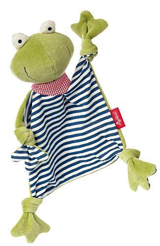sigikid, Mädchen und Jungen, Schnuffeltuch Frosch, Natural Love, Grün/Blau, 41352
