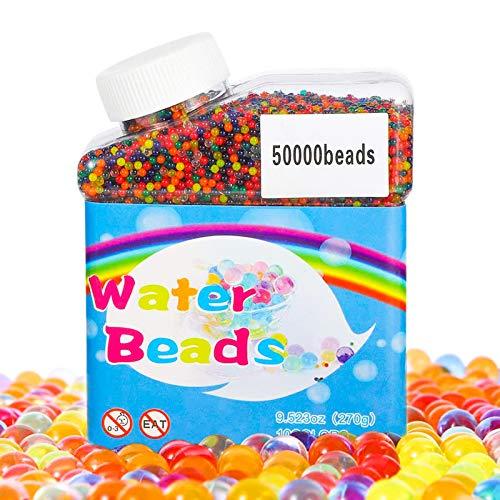 TBST Wasserperlen, 50000 Stücke Bunte Gel Perlen Wasserperlen für Kinder, Dekorative Wachs In Wasser...