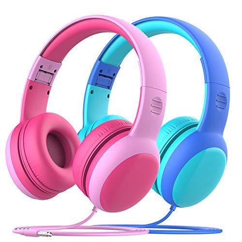 gorsun Kinderkopfhörer mit Kabel, Faltbare Kopfhörer für Kinder mit Dekorationsohren, verstellbare...
