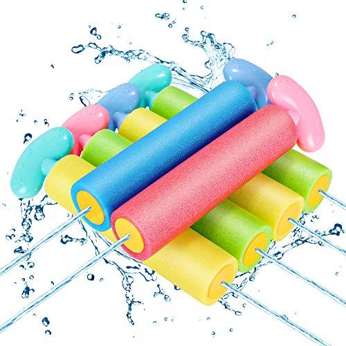 Magicfun Wasserpistole Spielzeug Kinder, 6 Stück Bunt Schaum Wassergewehr Set für Kinder, Schwimmbad...