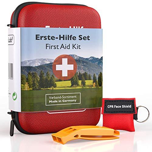 GoLab Erste Hilfe Set Outdoor - Survival Kit. Sport & Reise First Aid Kit mit Notfallbeatmungsmaske +...