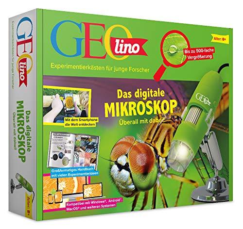 FRANZIS 67069 - GEOlino Das digitale Mikroskop - überall mit dabei, bis zu 500-fache Vergrößerung,...