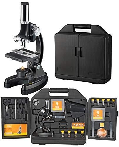 National Geographic Einsteiger Mikroskop 300-1200x mit batteriebetriebener Beleuchtung, umfangreichem...