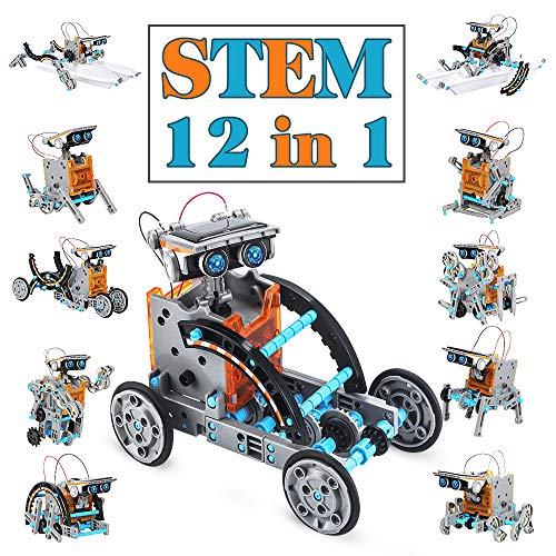 Dreamy Cubby Kinder Spielzeug ab 10+ Jahre,STEM Robot Science Kit 12-in-1 Education Solar Roboter...