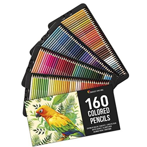 160 Zenacolor Buntstifte (Nummeriert) - Einfach aufzubewahren - Professionelles Buntstifte Set für...