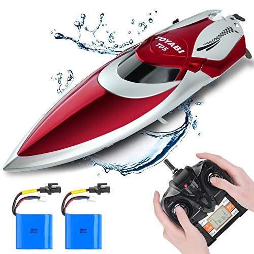 GizmoVine Ferngesteuertes Boot,Schnelle Geschwindigkeit RC Boot,25KM / H 2.4 GHZ Rennboote mit 2...