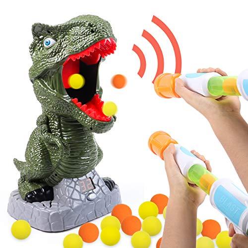 Tacobear Dinosaurier Schießspielzeug für Kinder Dinosaurier Zielscheibe Jungen mit Power Popper Pistole...