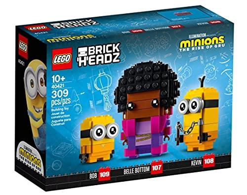 LEGO Minions Brickheadz Belle Bottom, Kevin und Bob Set 40421