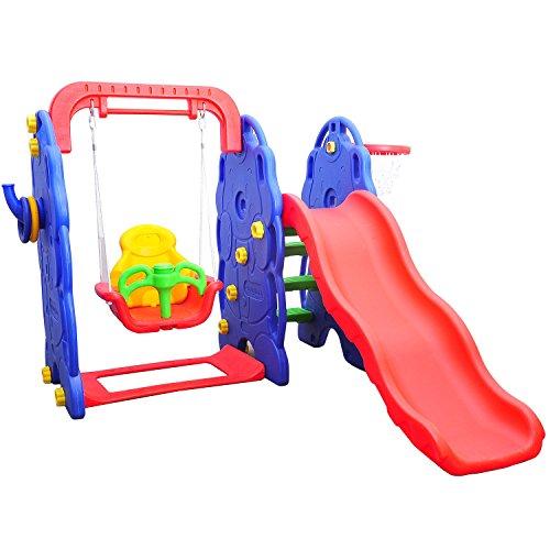 HOMCOM Kinderrutsche Kinder Rutsche Spielzeug Gartenschaukel Slide Gartenrutsche Babyrutsche...
