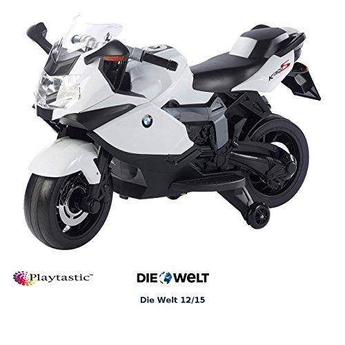 Playtastic Elektromotorrad: Original BMW-Lizenziertes elektrisches Kindermotorrad BMW K1300 S (Motorrad...