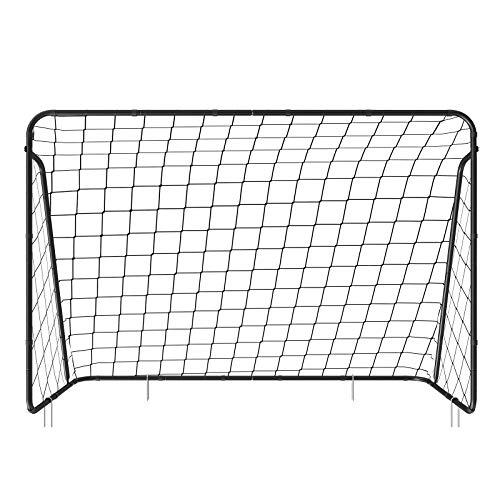 SONGMICS Fußballtor für Kinder, schnelle Montage, Garten, Park, Strand, Eisenrohre und PE-Netz, 300 x...
