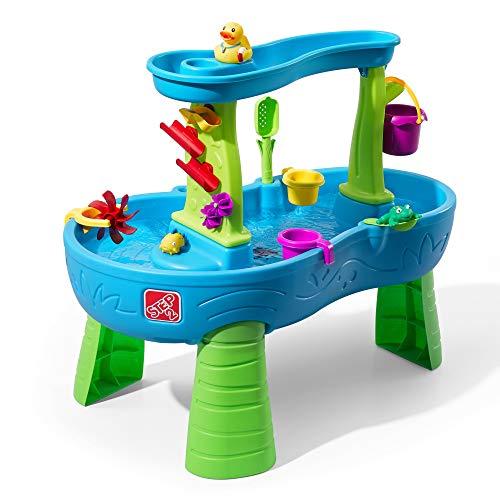 Step2 Rain Shower Wasserspieltisch | Großer Wassertisch mit 13-teiligem Zubehörset | Garten Wasser...