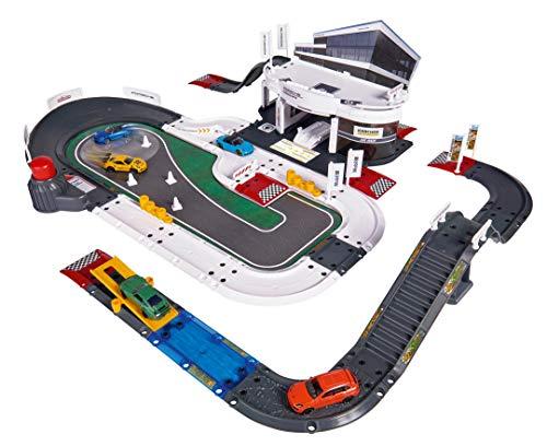 Majorette Porsche Experience Center Spielset, über 60 Teile, Experience Center Gebäude mit...