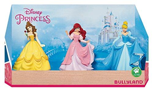 Bullyland 13245 - Spielfigurenset, Walt Disney Prinzessinnen in Geschenk Box, 3 teilig, liebevoll...