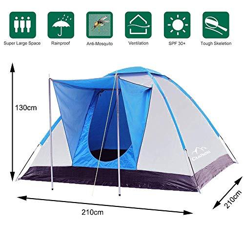 Climecare Zelt 2-3-4 Personen,Familienzelt, Kuppelzelt Outdoor Wasserdicht Campingzelt Iglu-Zelt, Silber...